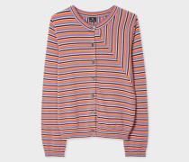 Multi-Coloured Stripe Cotton Cardigan