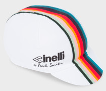+ Cinelli White 'Artist Stripe' Band Cycling Cap