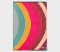 'Swirl' Print Leather Passport Cover