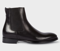 Black Leather 'Joyce' Chelsea Boots