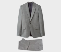 The Soho - Tailored-Fit Dark Grey Marl Wool Suit