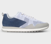 Light Blue 'Rappid' Knitted Trainers