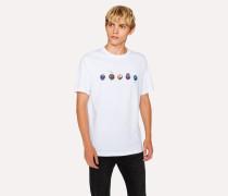 White 'Marbles' Print Organic-Cotton T-Shirt