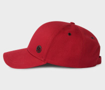 Red Cotton Baseball Cap