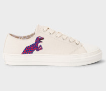 Ecru Canvas 'Kinsey' Trainers With 'Dino' Print