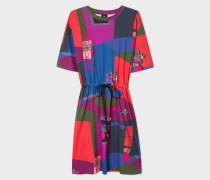 Multi-Coloured 'Still Life Bouquet' Print Cotton Dress