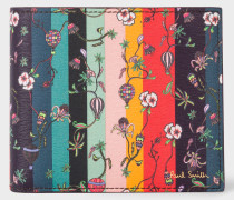 'Balloon Floral' Leather Billfold Wallet