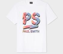 White 'Rainbow PS Logo' Print Organic-Cotton T-Shirt