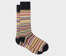 Narrow Signature Stripe Socks