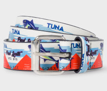 'Tuna' Print Leather Belt