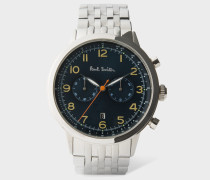 Petrol And Stainless Steel 'Precision' Chronograph Watch