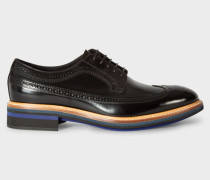 Black Patent Leather 'Chase' Brogues