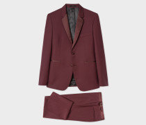 The Kensington - Slim-Fit Burgundy Wool-Mohair Evening Suit