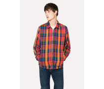 Red And Orange Check Cotton Jacket