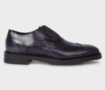 Dark Navy 'Hicks' Laceless Leather Brogues