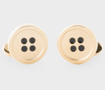 Gold Button Cufflinks