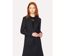 A Suit To Travel In -  Dark Navy One-Button Wool Blazer