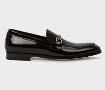 Black Patent Leather 'Grover' Loafers