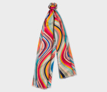 'Swirl' Double-Sided Silk Scarf
