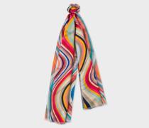 'Swirl' Double-Sided Silk Scarf
