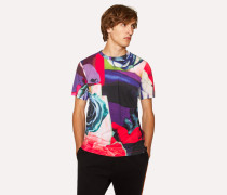 'Rose Collage' Print T-Shirt