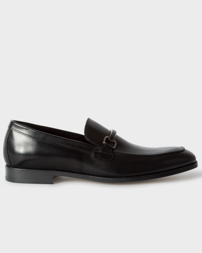 Black Leather 'Grover' Loafers