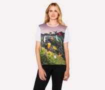 White 'Birds & Countryside' Print T-Shirt