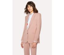 Pink Shawl Collar Wool Blazer