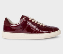 Bordeaux Patent Leather 'Levon' Trainers