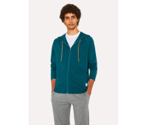Teal Jersey Cotton Lounge Hoodie