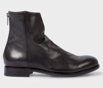 Dip-Dyed Black Calf Leather 'Jean' Boots