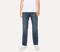 Standard-Fit 11.8oz 'Super Soft Cross-Hatch' Blue-Rinse Jeans