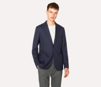 Slim-Fit Navy Wool-Hopsack Unlined Blazer