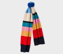 Vintage Stripe Wool Knit Scarf