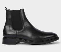 Black Leather 'Jake' Chelsea Boots