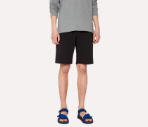 Black Cotton-Jersey Shorts