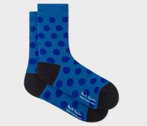 Slate Blue Polka Dot Cycling Socks