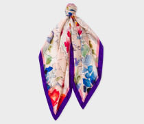 Multi-Colour 'Valentines' Silk Square Scarf