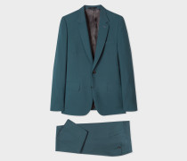 The Soho - Tailored-Fit Petrol Wool And Mohair Suit