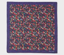 Dark Violet And Multi-Coloured Floral Print Pocket Square