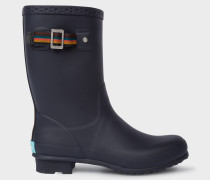 Navy Rubber 'Krupa' Wellington Boots