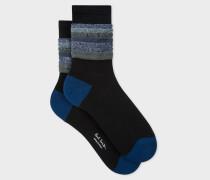 Black Glitter Frill Socks