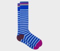 Cobalt Blue Stripe 'A Sock To Travel In'