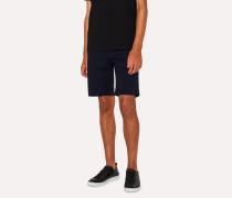 Navy Garment-Dyed Denim Shorts