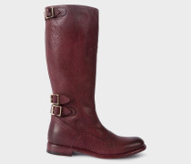 Bordeaux Leather 'Kings' Boots