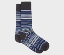 Sky Blue Signature Stripe Socks