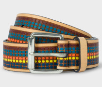 Multi-Coloured Polka Dot Leather Belt