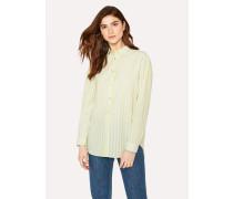 Fluorescent Green Striped Cotton Shirt