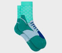 Green 'Trainer' Pattern Socks