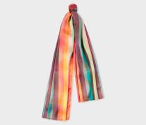 'Artist Stripe' Print Silk Scarf